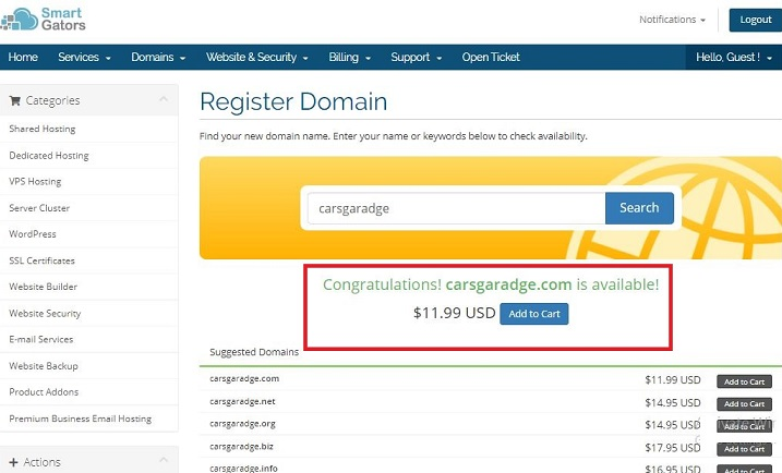 How to Register Domain Step 4